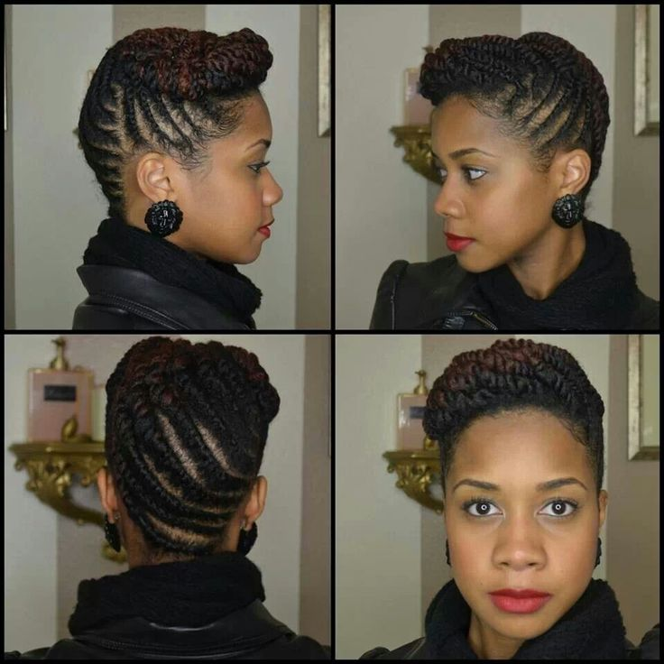 Toni of My Natural Sistas....Style: Flat Twist Updo