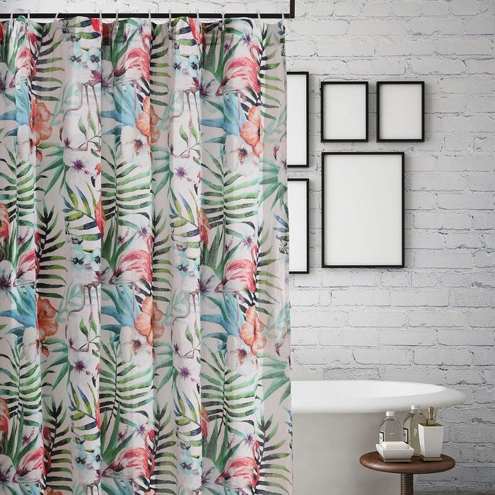 Flamingo Cove Shower Curtain Clearance In 2019 Tropical Shower