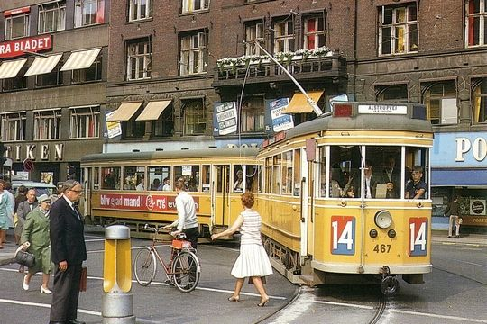 Copenhagen tram from the 70s!  Been there, did-done that....Fun was had by ALL....