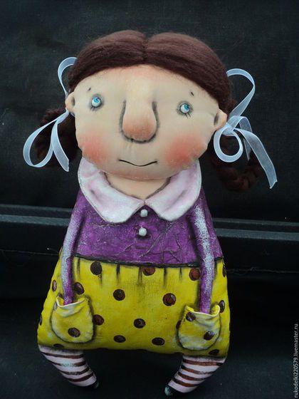 Коллекционные куклы ручной работы. Ярмарка Мастеров - ручная работа. Купить Текстильная куколка Сливка!. Handmade.…