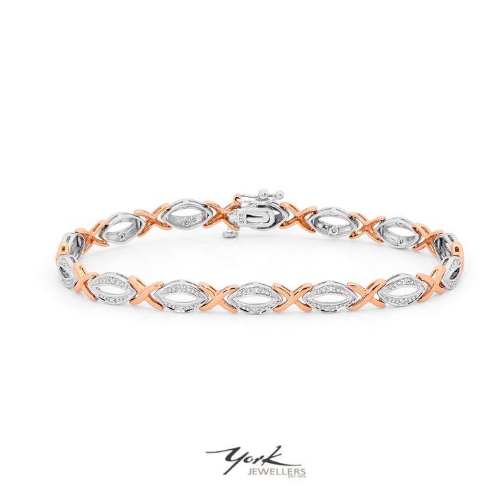 Rose gold and diamond bracelet.  www.yorkjewellers.com.au