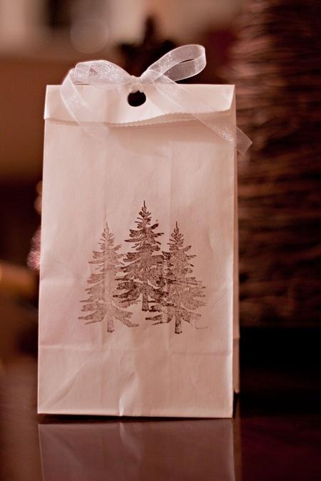 Using a brown paper bag :)