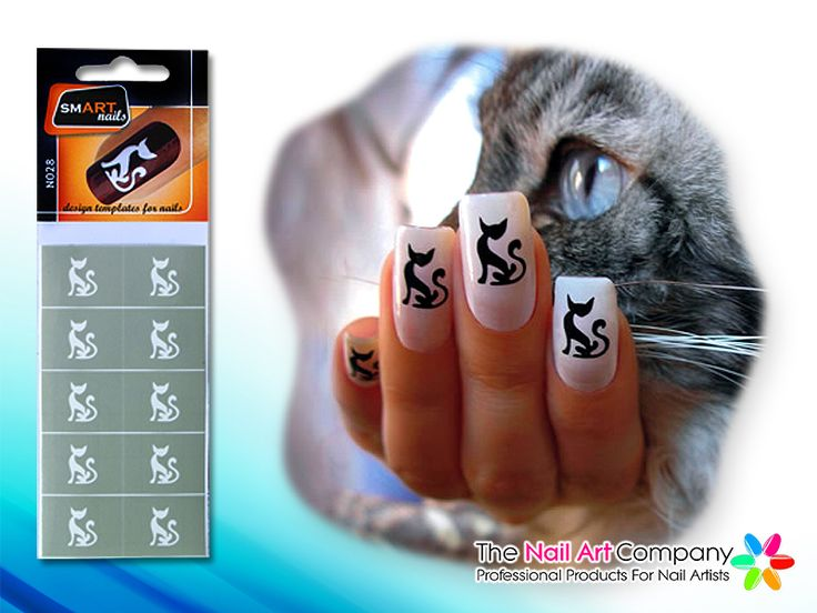 67 best smart nails nail art stencils images on pinterest the o smart nails cat nail art stencil set n028 prinsesfo Images