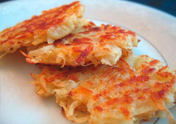 Вкусные драники постные из картофеля в духовке.  блюда