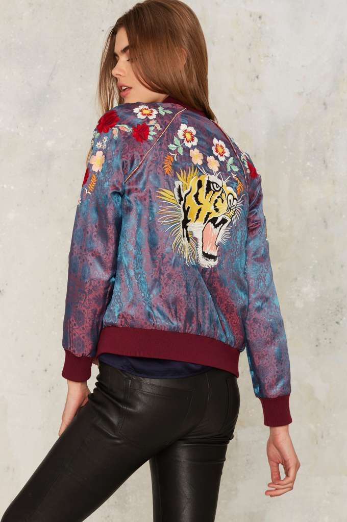 Nasty Gal Hear Me Roar Reversible Bomber Jacket - Clothes | Nasty Gal Collection | Spring Smackdown | Bomber Jackets | Jackets + Coats