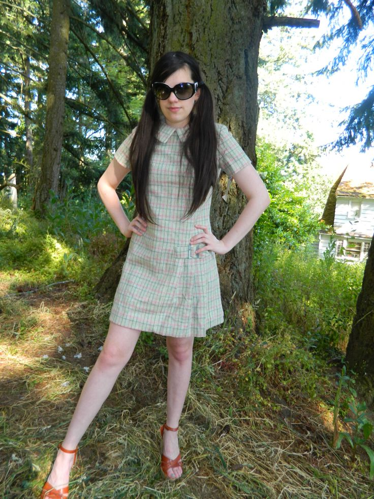 A personal favorite from my Etsy shop https://www.etsy.com/listing/220310701/nos-nwt-plaid-wool-mini-schoolgirl-dress