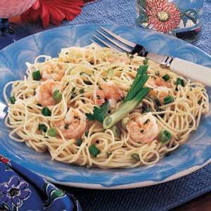 "Best Shrimp Scampi Recipe -In Burien, Washington, Lori Watkins frequently prepares this simple seafood entree that looks fancy enough for company or special occasions. ""I've been serving this delicious dish for years, and everyone likes it,"" she remarks."