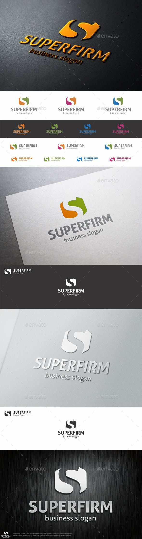Super Firm S Letter - Logo Design Template Vector #logotype Download it here: http://graphicriver.net/item/super-firm-s-logo-letter/10009109?s_rank=1109?ref=nexion