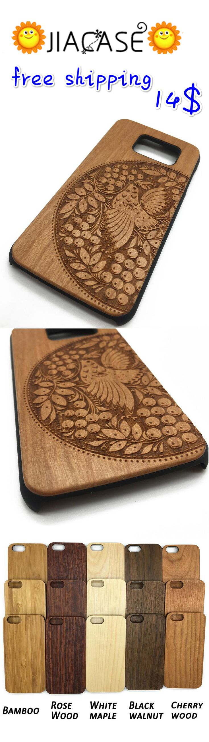 #Wooden #Case #iPhone7 Plus 6 6s 5 5s Half #Circle #Bird #Totem #Worship