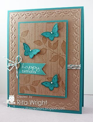 Stampin' Up! Summer Silhouettes with Hardwood (Rita's Creations)