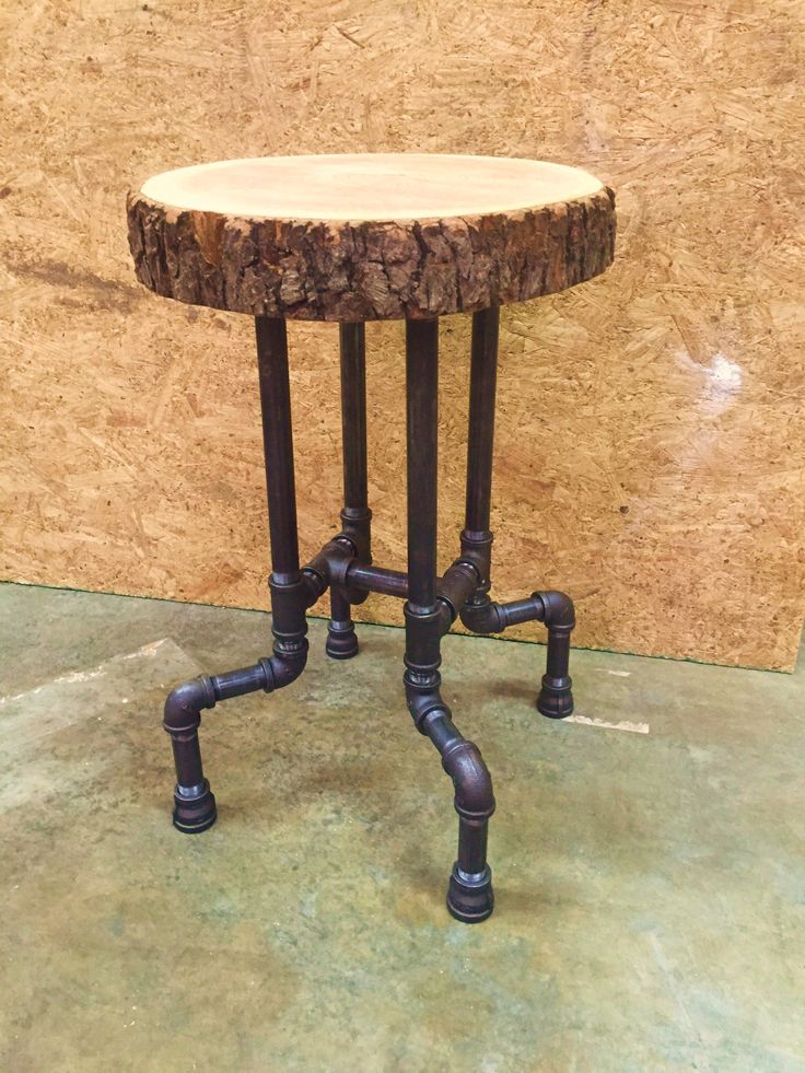 Cherry Slab Seat On 3 4 Quot Black Iron Pipe This 24 Quot Stool