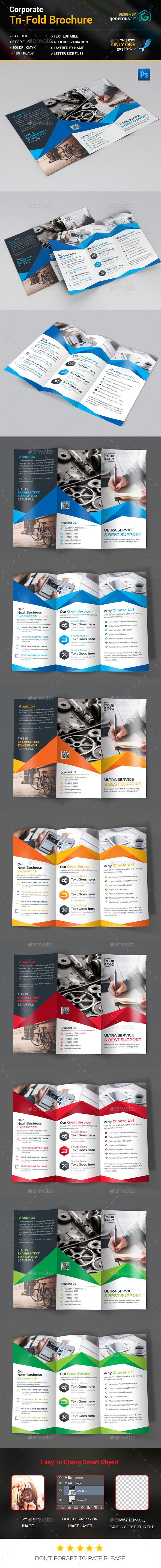 Tri-Fold Brochure Template PSD. Download here: http://graphicriver.net/item/trifold-brochure/15321059?ref=ksioks
