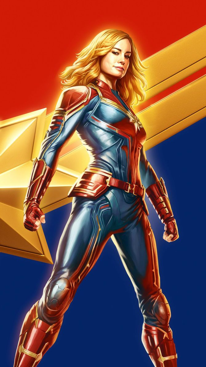 Captain Marvel 2019 Phone Wallpaper Captain Marvel
