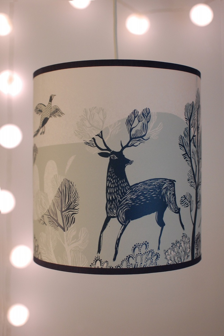 blue stag lampshade.