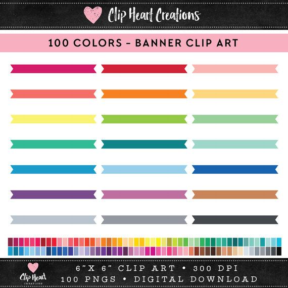 100 Ribbons Clipart, Commercial use, PNG, Vector graphics, Digital clip art, Digital images, Rainbow digital scrapbooking clip art, Banners  Great for scrap booking, cards, stickers, cupcake toppers, gift wrap, gift tags, invitations, fabric, web graphics - or anything that you can think of. 100 COLORS  DETAILS :::::::::::::::::::::::::::::::::::  ♥ This collection includes 100 individual clip art elements ♥ PNG format with transparent backgrounds ♥ All files are saved separately in high…