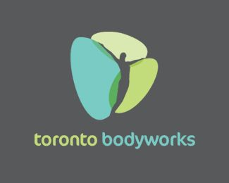"""The """"silhouette"""" is common in health/wellness logos and can range from bad to great. This one is good--the color blocks add a dynamic element."""