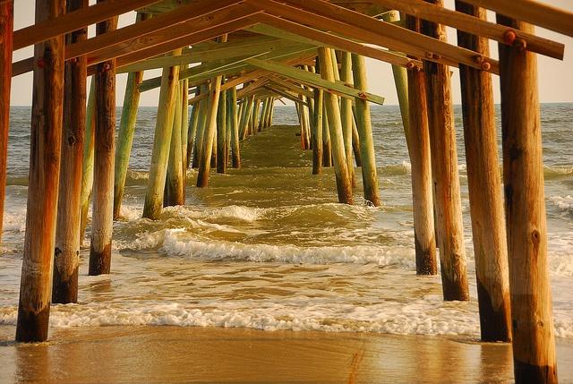 Oceanana Pier, Atlantic Beach, NC by FotoRic, via Flickr