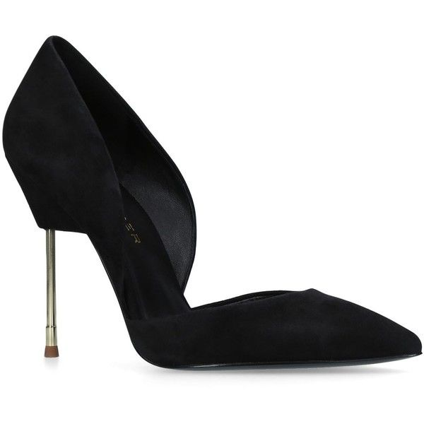 Kurt Geiger London Bond Pumps (670 BRL) ❤ liked on Polyvore featuring shoes, pumps, black stiletto shoes, black cut out pumps, cut-out shoes, black pumps and kurt geiger shoes