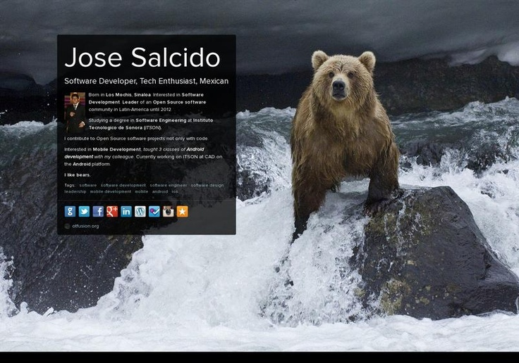 Jose Salcido's page on about.me – http://about.me/jose152