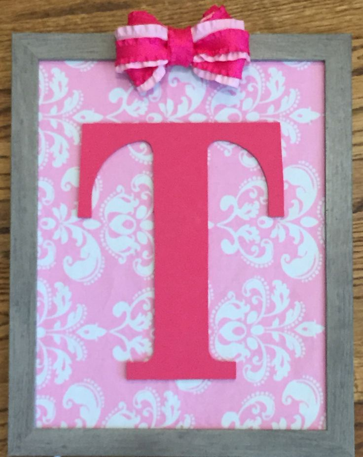 Handmade Framed Wooden Letter by TandCKidsCreations on Etsy