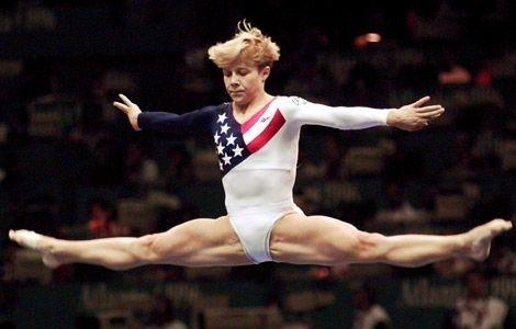 Amanda Borden then:   Where Are They Now: The 1996 US Gymnastics Team