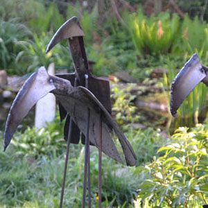 Gartenskupltur aus Eisen