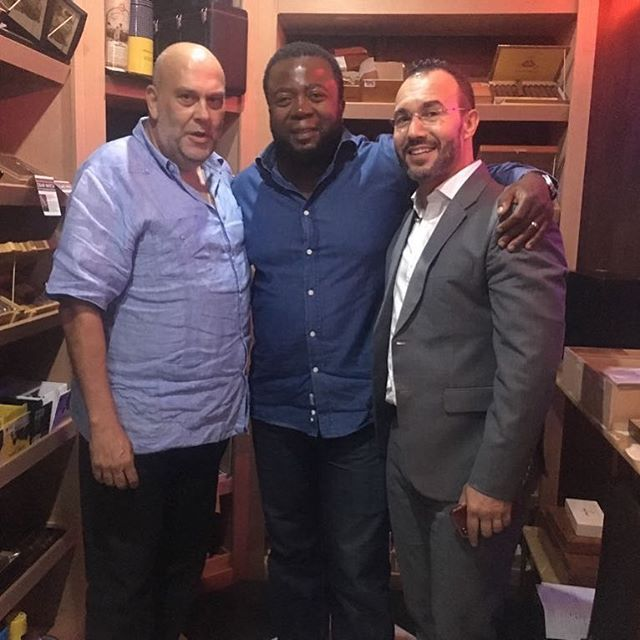 Aqui com José Ramos de owner of Pedro Portia Cigar Lounge and my good friend Jorge Mendes. It was good seeing you after a long time. Next time we meet in Maputo Vamos vencer @pedroportiasa