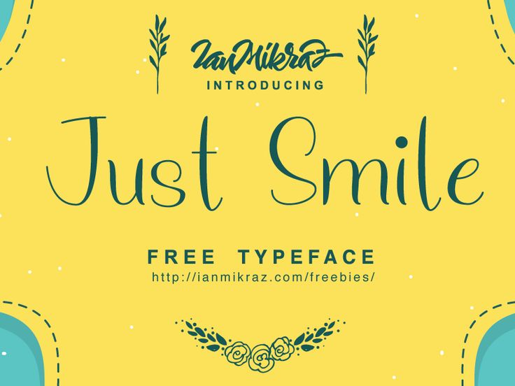Just Smile Free Typeface by ianmikraz