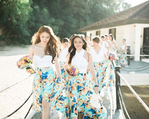 Mint Fl Print Bridesmaid Dresses Fashion