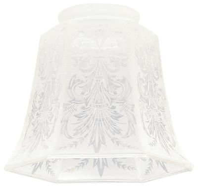 Pair This Elegant Frosted Etched Shade With Any Fixture For A Custom Look Or Transform Existing Lighting Its Intricate Design