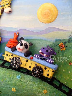 Patricia Cruzat Artesania y Color: Tren con Animales