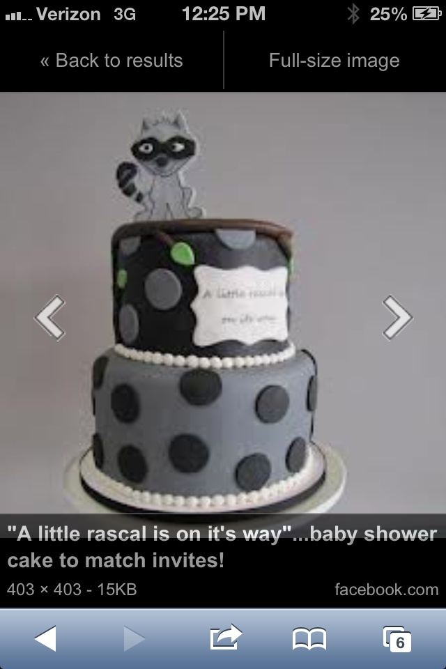 Raccoon Baby Shower Cake Baby Shower Pinterest
