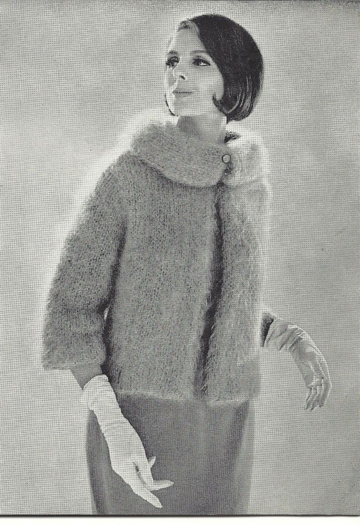 71 best mohair knittingcrochet images on pinterest crochet 1961 vintage knitting pattern mohair jacket by mbellishknits 299 bankloansurffo Images
