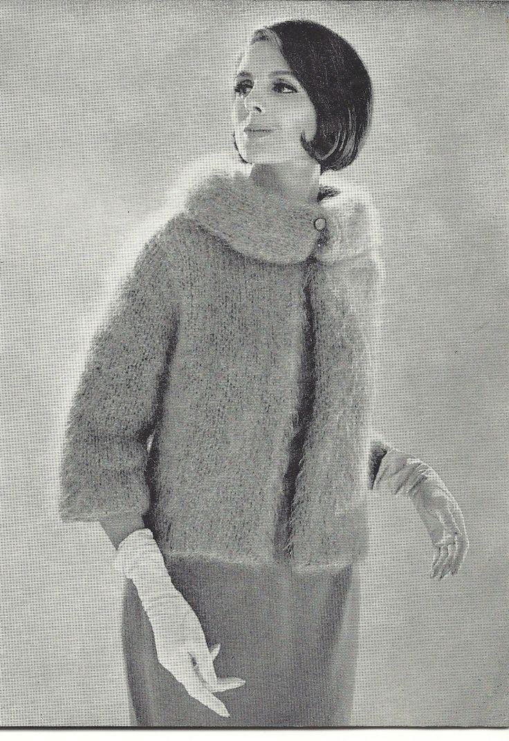 1961 Vintage Knitting Pattern Mohair Jacket by mBellishKnits, USD2.99 50...