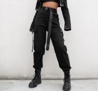 Cargo Pants Women Casual Joggers High Waist Loose Trousers