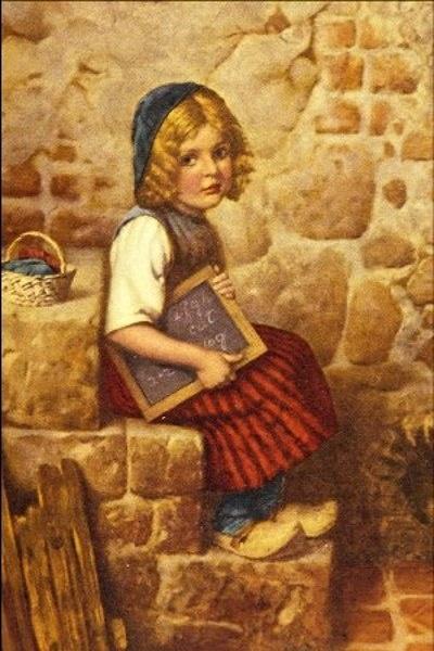 """Gretel"". Hermann Kaulbach (1846 – 1909), German painter."