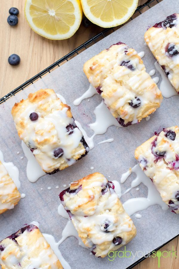 Blueberry and Lemon Loaves | Baked Goods | Recipes | Grab Your Spork