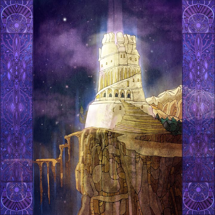 Ivory Tower by yanadhyana. Year: 2011-2013 technique: ink on paper (lineart) and digital coloring