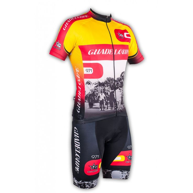 Gvt Guadeloupe 971 - Maillot et cuissard cycliste homme en édition limitée