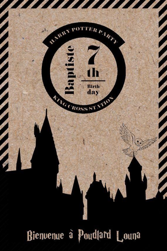 Invitation pour un anniversaire Harry Potter en 2020 | Anniversaire harry potter, Anniversaire ...