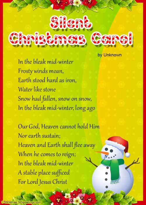 Christmas Poems For Kids Christmas Poems Christmas