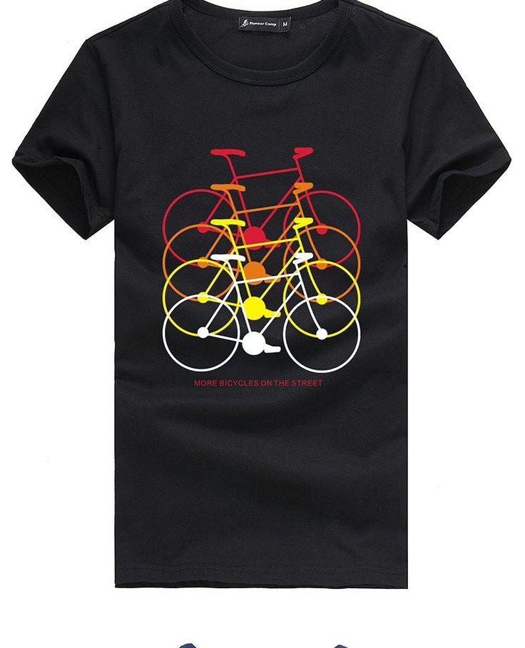 T Shirts : Pioneer Camp Men's Cotton T Shirt Black