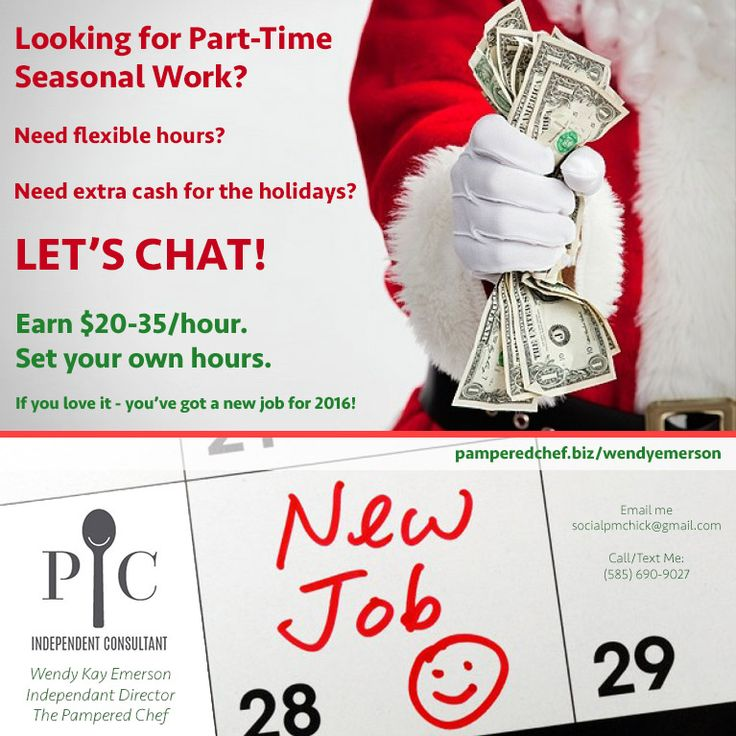 Are You Looking For Part-time Seasonal Work? Finding A Job