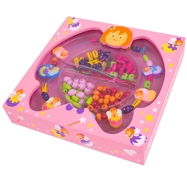 This lovely fairy kit is ideal for young designers of 3 years+ to create a variety of beautiful jewellery designs using a wide range of different coloured beads, laces and key pieces such as fairies and hearts. The pretty little box also doubles up as a trinket box to keep the completed jewellery in after creation! The perfect present for creative youngsters to develop their imagination and jewellery making skills.
