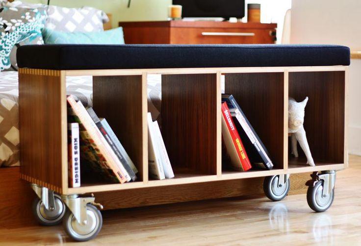 bookcase bench plans