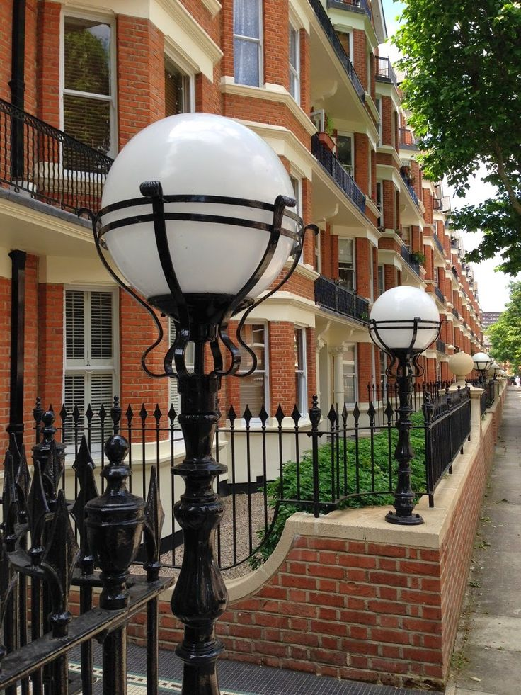 Street lamps, Maida Vale, London.