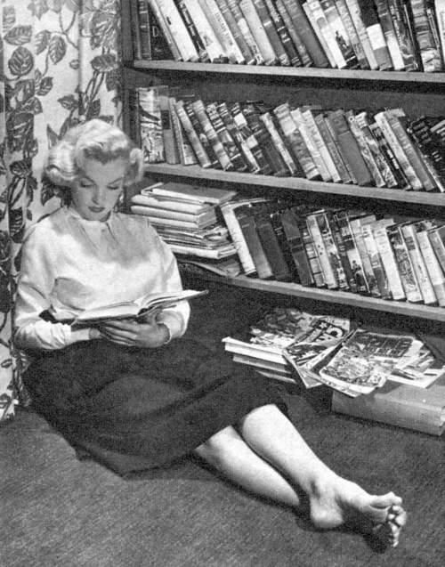 Marilyn Monroe, the public thought she was dumb, but, she was always reading and trying to improve herself ! She was NOT dumb !!