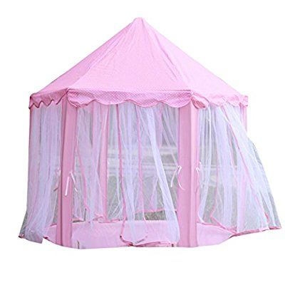 Lookatool Castle Children's Tent House of Games For Kids Funny Portable Tent Baby Playing (Pink)
