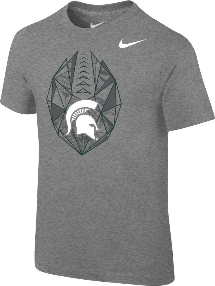 Nike Boys' Michigan State Spartans Grey Football Icon T