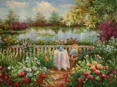 Simple Flower Garden Paintings red abstract flowers painting floral painting garden painting